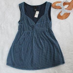 NWT New York & Company Blue Sleeveless Top